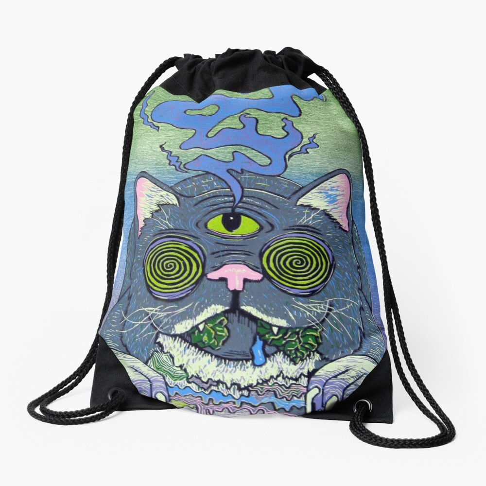 trippy Drawstring Bag