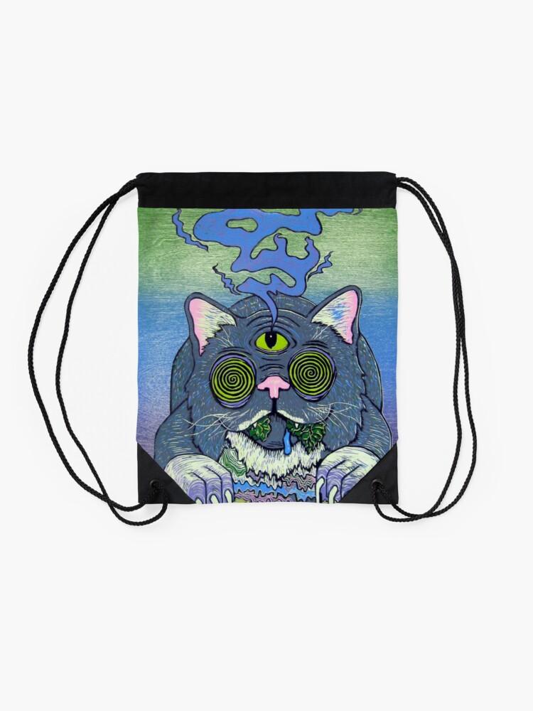 Alternate view of trippy Drawstring Bag
