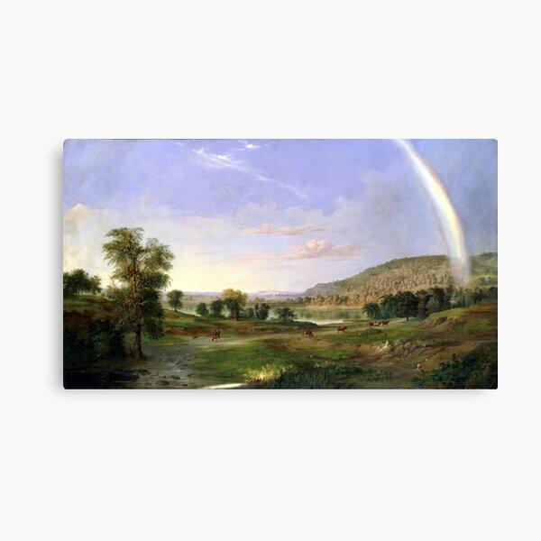 Paisaje de Robert S. Duncanson con arco iris Lienzo