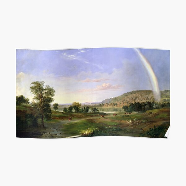 Robert S. Duncanson Landscape with Rainbow Poster