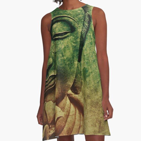 Buddha Head 2 A-Line Dress
