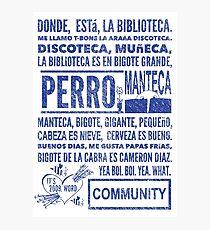 La Biblioteca Rap - Community Photographic Print