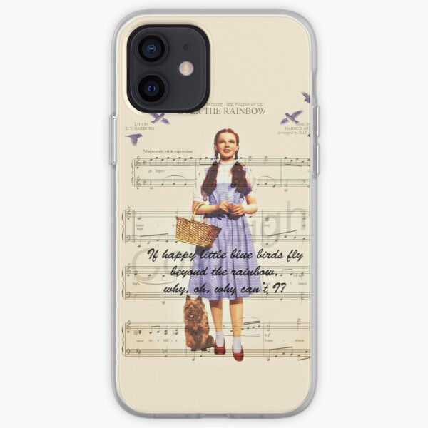 song sheet music over the rainbow print digital art edit mysticladyart dorothy shoes red  mask print iPhone Soft Case