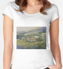 Sunflowers - Tuscany Women's Fitted Scoop T-Shirt