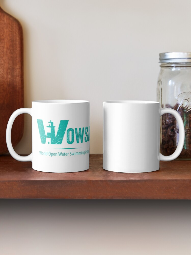 Alternate view of Teal Lighthouse Swimming Logo Tee (Back) Mug