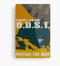 Enlist As An O.D.S.T Yellow Metal Print