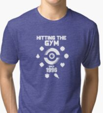 Hitting The Pokemon Gym Tri-blend T-Shirt
