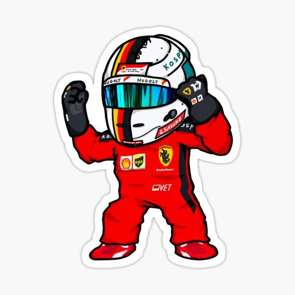 Seb Vettel Mini Sticker