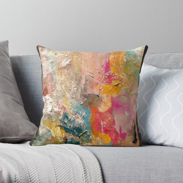 a piece of paper flower Throw Pillow