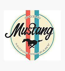 Mustang retro Photographic Print