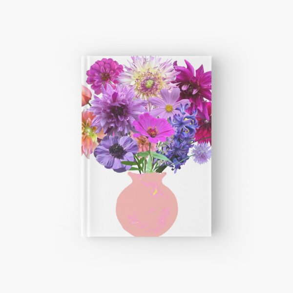 Dahlia and tulip bouquet sticker by Tea with Xanthe Hardcover Journal