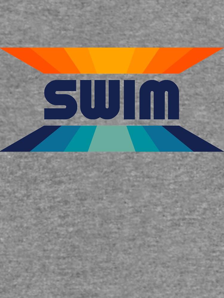 Retro Gradient Orange and Blue SWIM logo by WOWSA