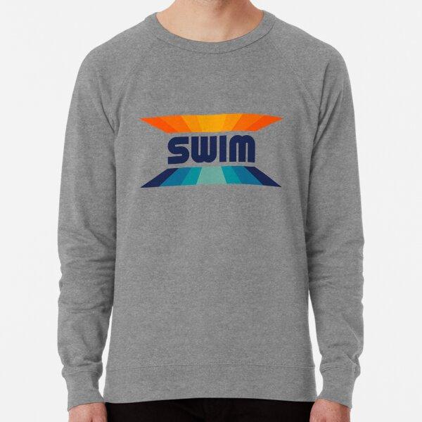 Retro Gradient Orange and Blue SWIM logo Lightweight Sweatshirt