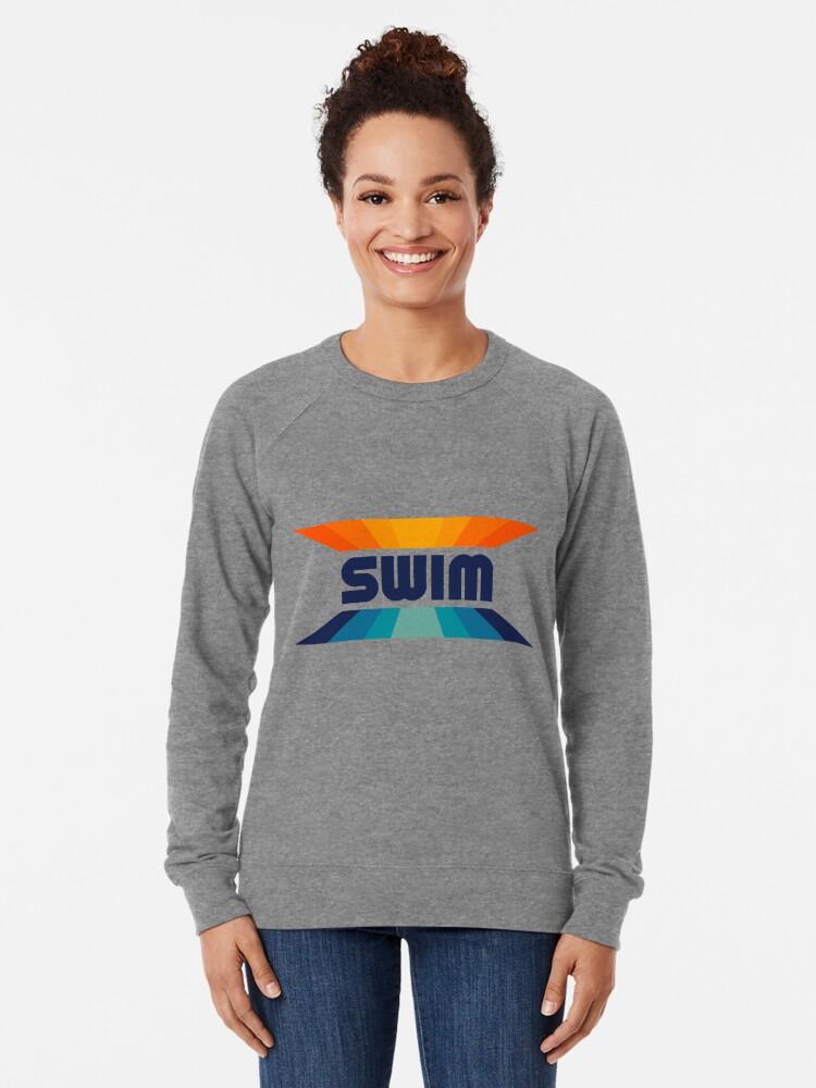 Alternate view of Retro Gradient Orange and Blue SWIM logo Lightweight Sweatshirt