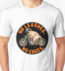 No Cages Pug Unisex T-Shirt