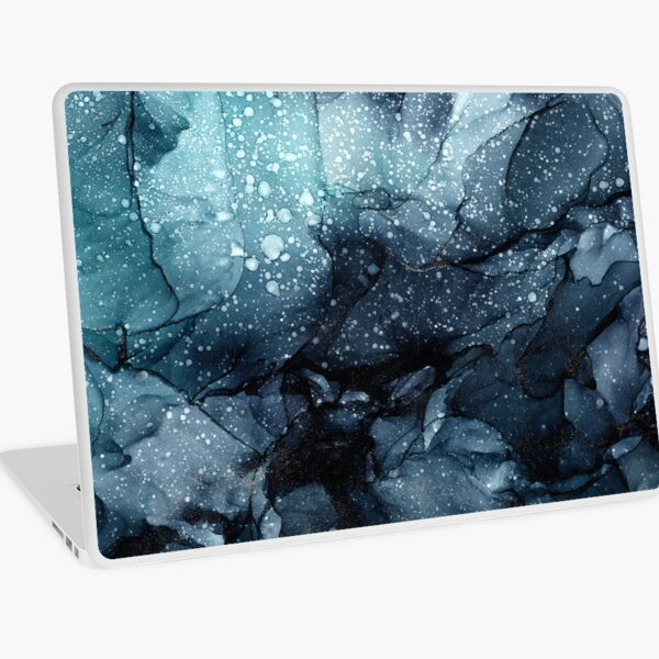 Moody Ocean Seas Ink Abstract Painting Laptop Skin