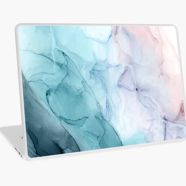 Beachy Pastel Flowing Ombre Abstract 1 Laptop Skin