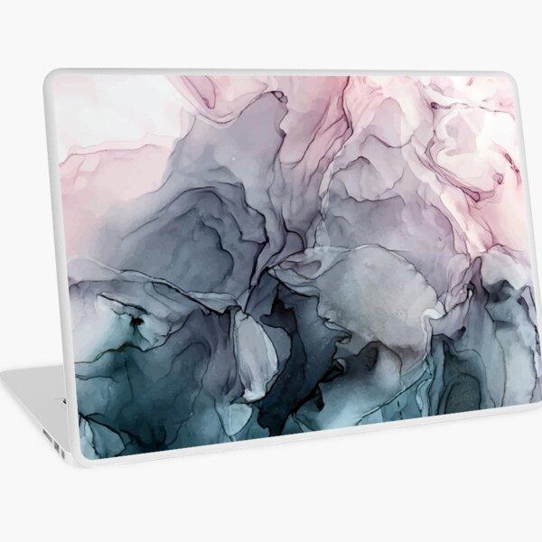Blush y la pintura abstracta que fluye gris de Payne Vinilo para portátil