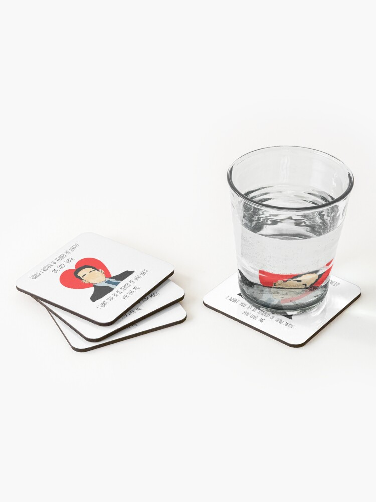 Alternate view of The Office Valentine Michael.  Coasters (Set of 4)