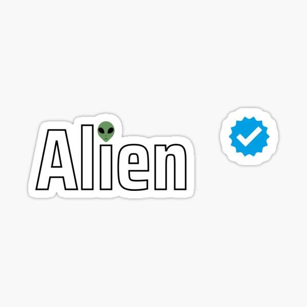 Verified Alien Sticker