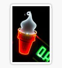 neon ice cream Sticker