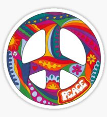 Psychedelic Peace Symbol Sticker