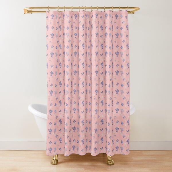 Roses and Wrens in Pink by Tea with Xanthe Shower Curtain