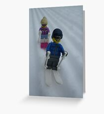 Skiing Down the Hill Greeting Card