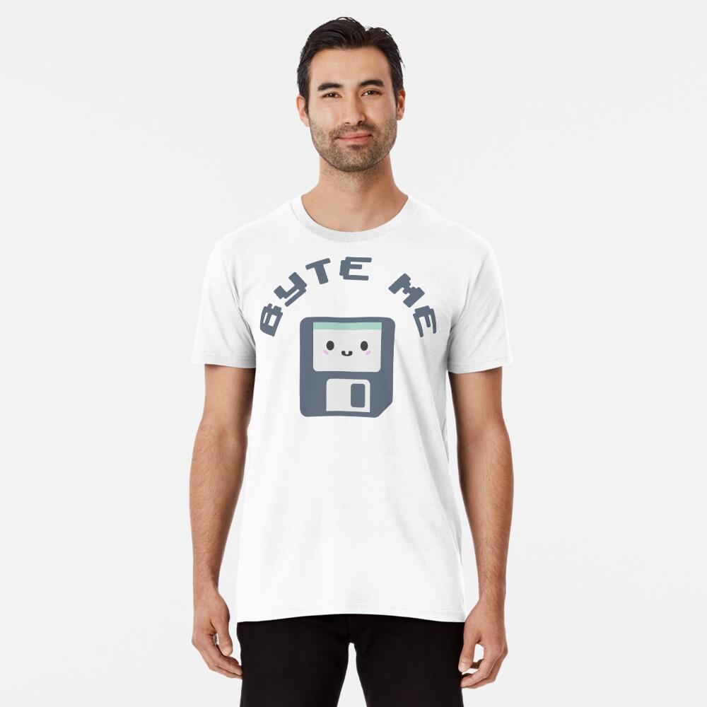 Byte Me Retro Kawaii Diskette Premium T-Shirt