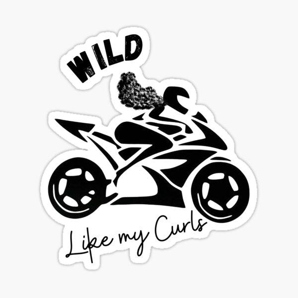 Wild Like My Curls Sticker