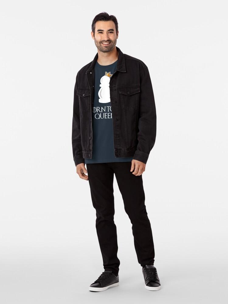 Alternative Ansicht von Born to be Queen Schach Motiv Premium T-Shirt