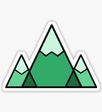 Mountains Green Sticker