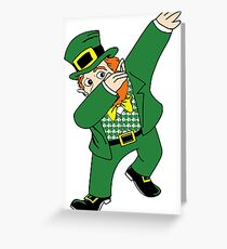 Dabbin' Leprechaun Greeting Card