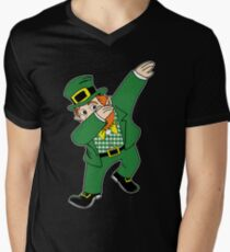 Dabbin' Leprechaun Men's V-Neck T-Shirt