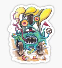 Aussie Road Rage Hoon Monster Sticker
