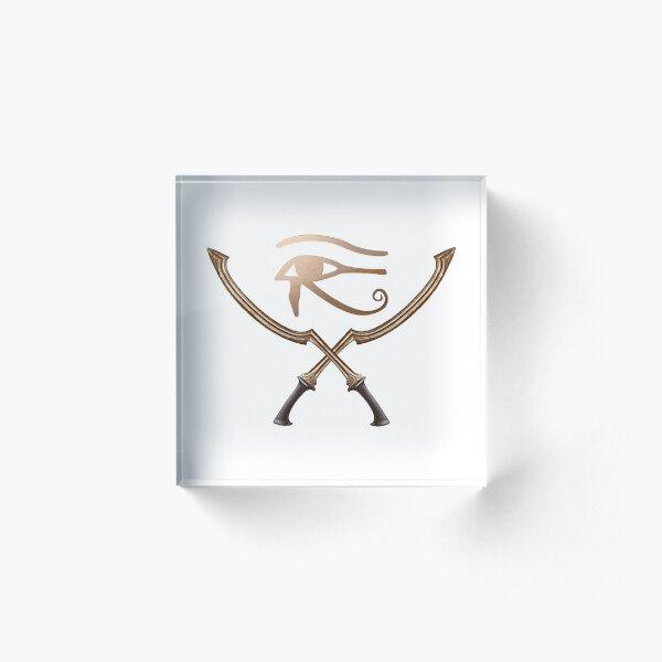 Aha Kamat - Ancient Egyptian  Combat Logo Acrylic Block