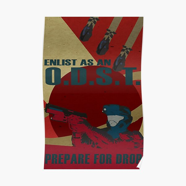 Enlist As An O.D.S.T. Red Poster