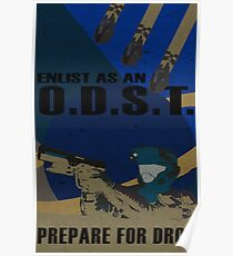 Enlist As An O.D.S.T. Blue Poster