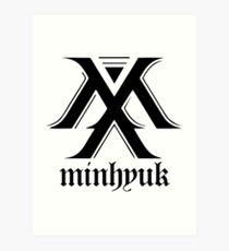Monsta X logo + Minhyuk Art Print