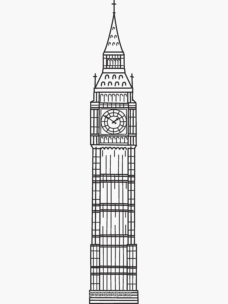 London Sketches - Big Ben by greenbirdpress