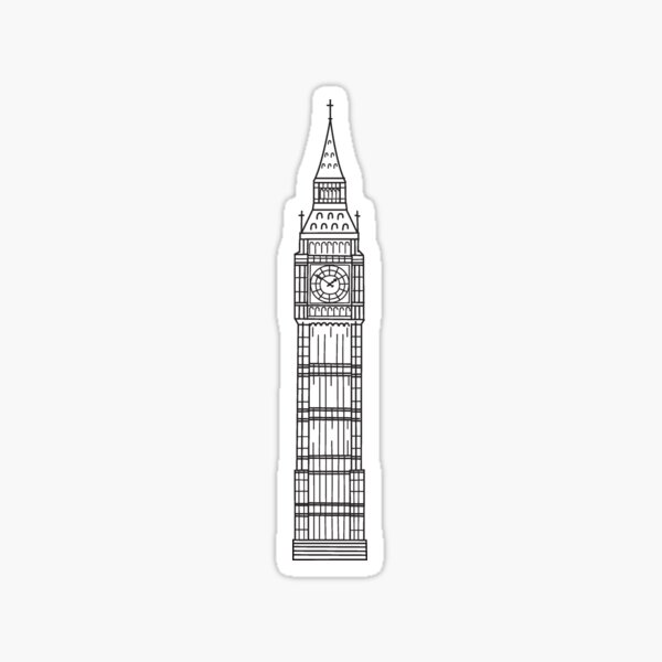 London Sketches - Big Ben Sticker