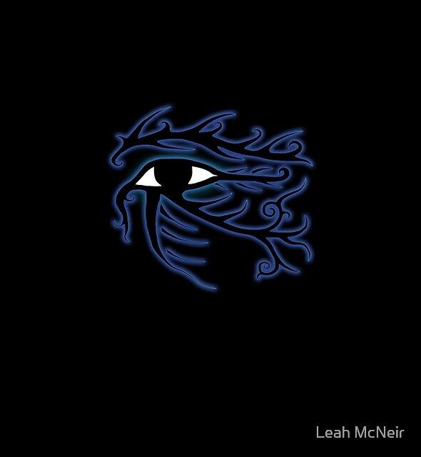 Tribal Eye of Horus by Leah McNeir
