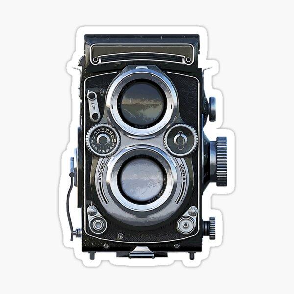 Retro Camera twin lens lomography Sticker