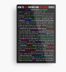 How to Win Friends and Influence People Metal Print
