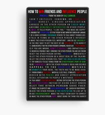 How to Win Friends and Influence People Canvas Print
