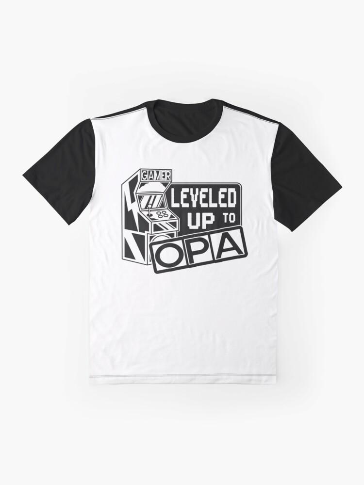 Alternative Ansicht von Leveled up to Opa Grafik T-Shirt
