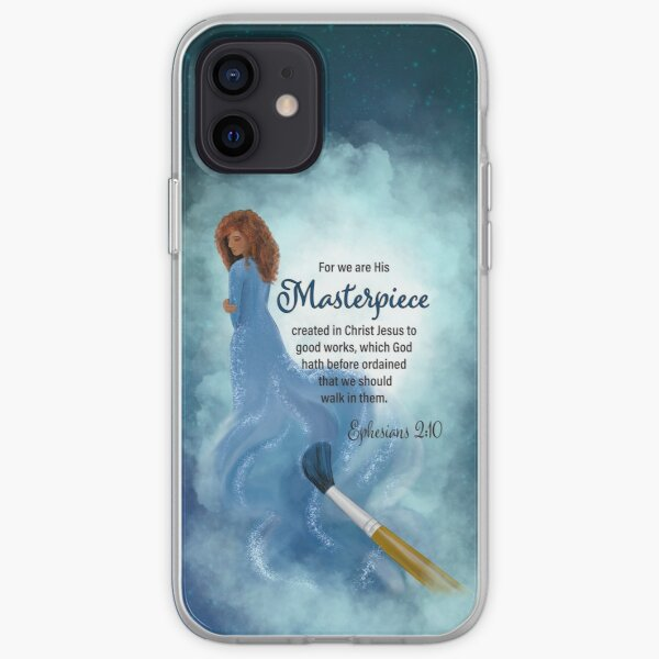 His Masterpiece (Blue Background) iPhone Soft Case