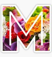 The Letter M - Flowers Sticker