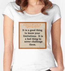 Kallun's 1st law- fighting spirit Women's Fitted Scoop T-Shirt