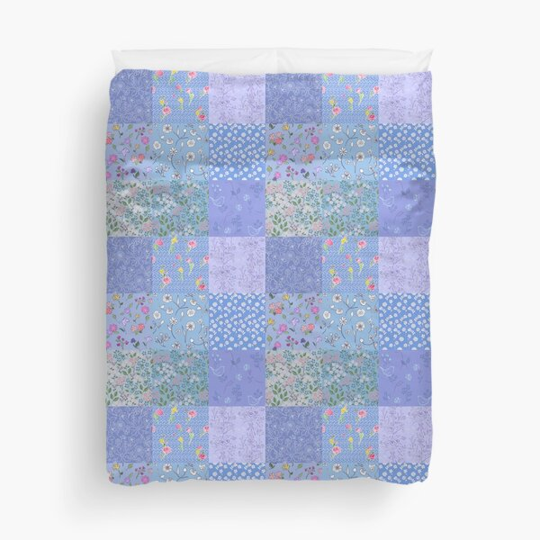 Something Blue Patchwork Quilt by Tea with Xanthe Duvet Cover